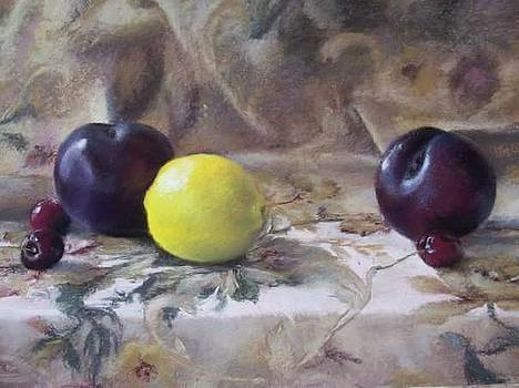 Black Plums and Lemon by Kelly Lanning Phipps