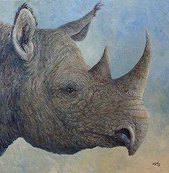 Black Rhino by Elin Johnsen