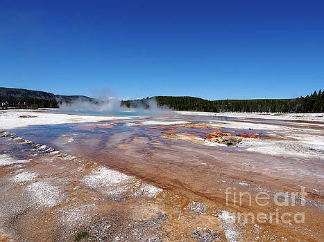 Black Sand Basin in Yellowstone National Park by Louise Heusinkveld