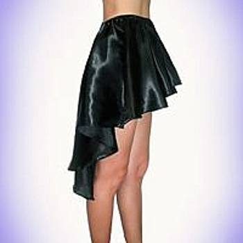 Sofia Metal Queen - Black satin high low skirt. Ameynra early days design 2010