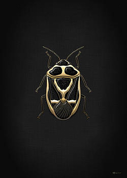 Serge Averbukh - Black Shieldbug with Gold Accents