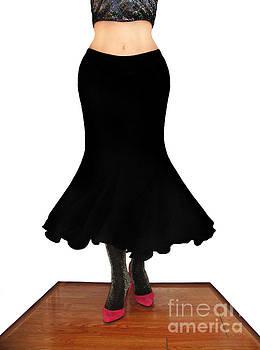 Sofia Metal Queen - Black siren skirt. Ameynra fashion