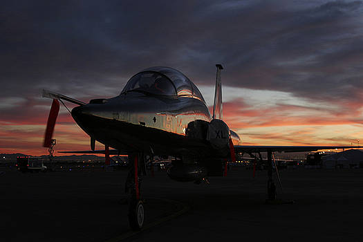 John Clark - Black T-38 at Sunset