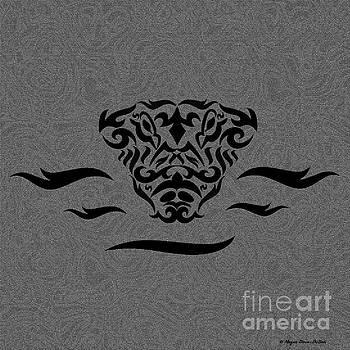 Black Tribal Gator by Megan Dirsa-DuBois