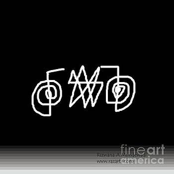 Black White 9 by Rizwana Mundewadi