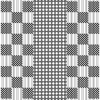Black White Grey Geometric Design by Gabriella Weninger - David