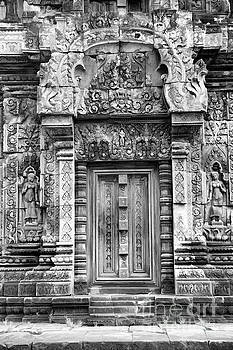 Chuck Kuhn - Black White Place of Worship Cambodian Stone Temple