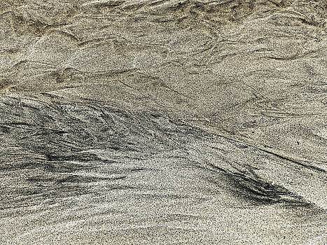 Chris Honeyman - Black white yellow sand, Isle of Lewis 2017