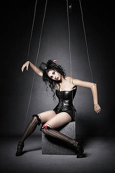Black Widow Marionette Puppet  by Johan Swanepoel