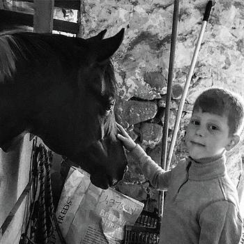 #blackandwhite #horse #pony #horse #boy by Sharon Halteman