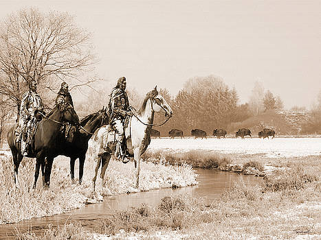 Blackfoot on the Buffalo Trail by Spadecaller