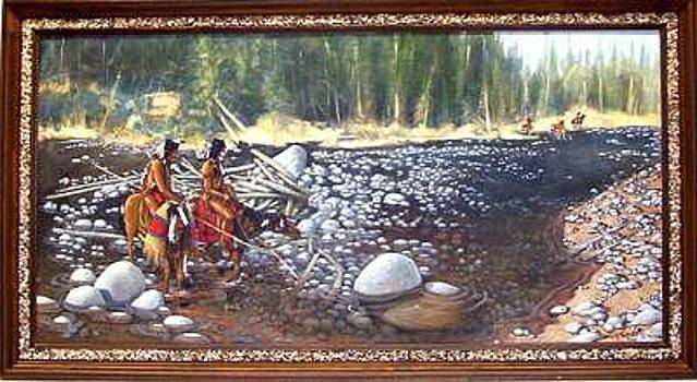 Blackfoot Scouting Party- Original Acrylic by Larry Wetherholt