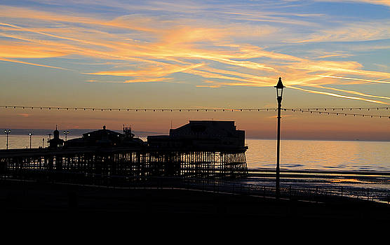 Blackpool North Pier Sunset by David Chennell