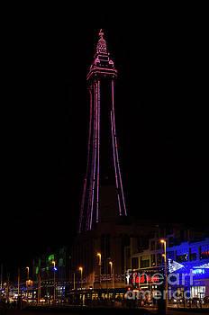 Blackpool tower pink by Steev Stamford