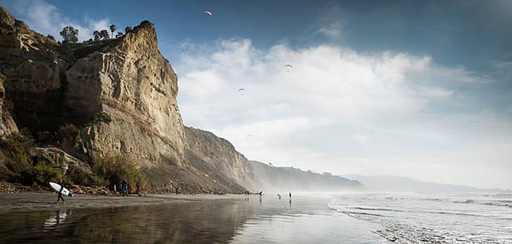 Black's Beach Cliffs by William Dunigan