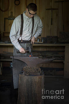 Blacksmith At Work by Liane Wright