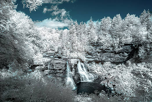 Blackwater Falls in IR by Guy Whiteley