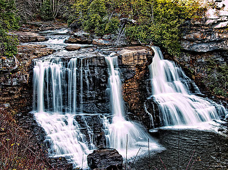 Blackwater Falls, West Virginia by Skip Tribby