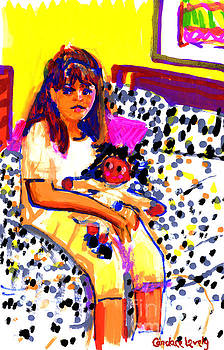 Blake with Her Doll by Candace Lovely