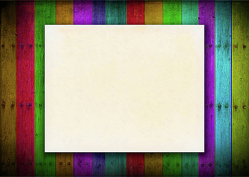 Blank Aged Paper On Colorful Background by Prasert Chiangsakul