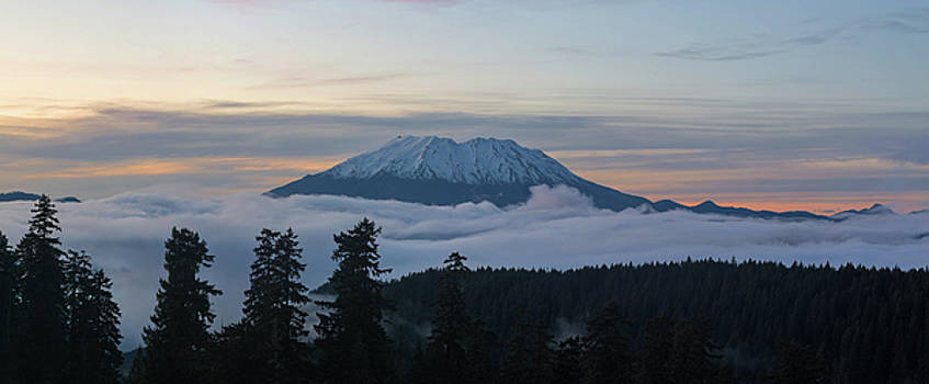 Blanket of Fog Below Mount Saint Helens by David Gn