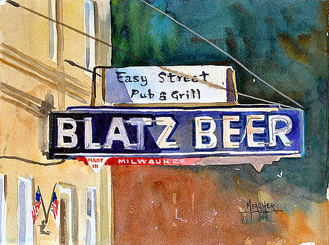 Blatz Beer Sign by Spencer Meagher