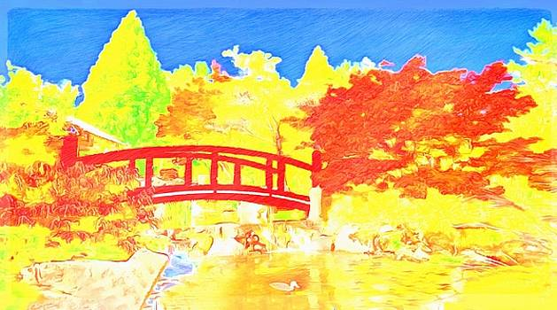 Blazing Bridge by Mario Carini