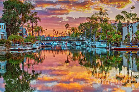 Blazing Sky Reflections from Above by David Zanzinger