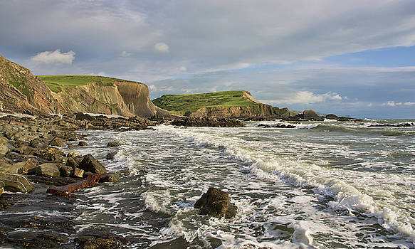 Blegberry Beach In North Devon by Pete Hemington