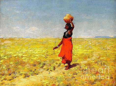 Peter Gumaer Ogden - Blind Hopi Girl Returning Home from a Desert Watering Hole 1915