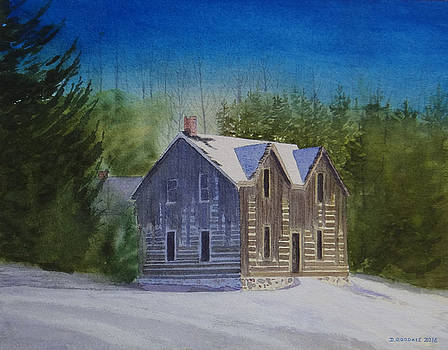 Blind River Homestead in Winter by Doug Goodale