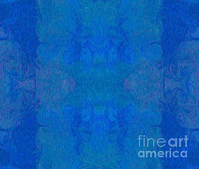 Omaste Witkowski - Blissful Blues Abstract Inspirational Words Artwork by Omaste Wi