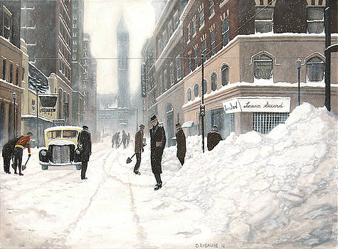 Blizzard on Bay by Dave Rheaume