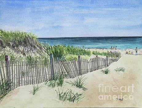 Block Island Beach by Carol Flagg