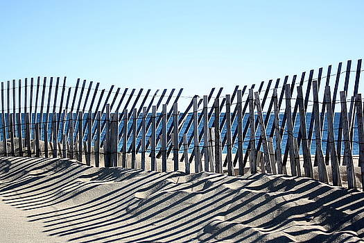 Anne Babineau - Block Island dune fence