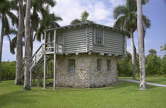 blockhouse in Collier Seminole State Park Florida by Richard Nickson