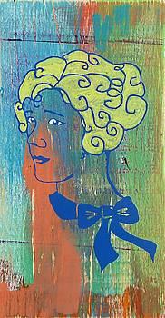 Blonde Girl Blue by Desiree Warren