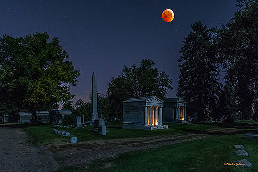 Blood Moon at Fairmount Cemetery by Stephen  Johnson