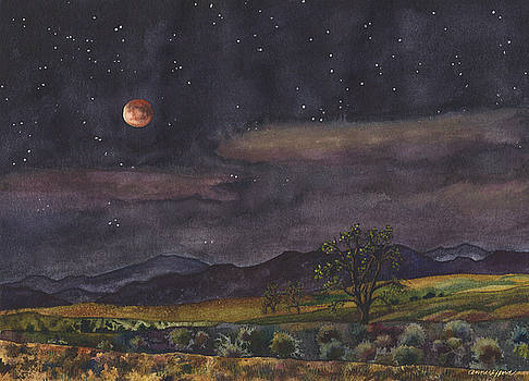 Blood Moon Over Boulder by Anne Gifford