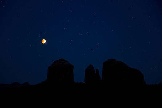Blood Moon Over Cathedral by Tom Kelly