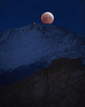 Blood Moon Over Pikes Peak 2 by Bryan Oller