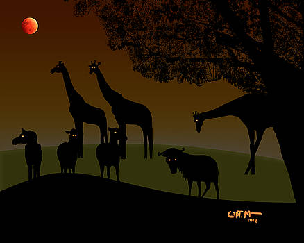 Blood Moon Over the Veldt by Mickey Wright