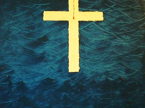 Blood Stained Cross by Barbara Hayes
