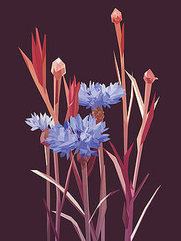 Bloom - Purple by David Lange