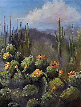 Blooming Cactus by Jan Holman