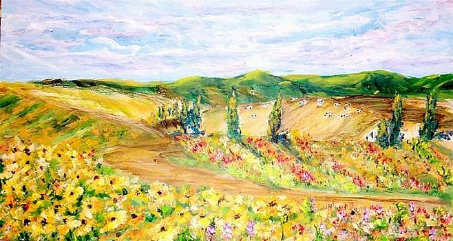 Blooming Fields  by Mary Sedici