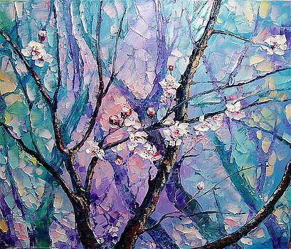 Blooming Orchard by Keren Gorzhaltsan