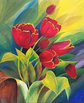 Blooming Tulips by Rupa Prakash