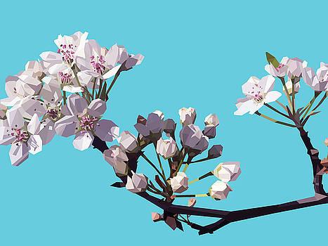 Blossom - Blue by David Lange