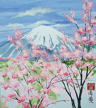Blossoms and Fuji by Naomi Wilsey